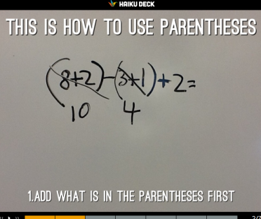 Using Parentheses