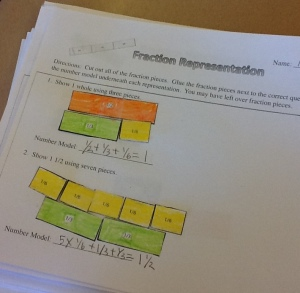 fraction pieces
